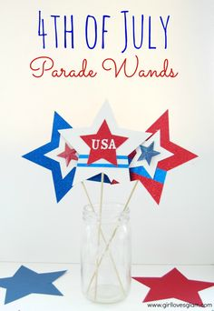 4th of July parade wands from www.girllovesglam.com #DIY #tutorial #4thofjuly