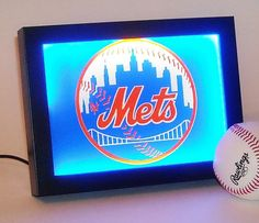 FREE SHIPPING New York Mets 3Way Touch Lamp By CornholeBagsnMore | New Room  | Pinterest | New York Mets, New York And Touch Lamp