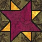 Stained Glass Newport Star Quilt Block Pattern