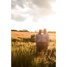 Golden hour engagement photo inspiration - two men in love on a dog walk captured in their engagement photos in a wheat field in golden light. Golden retriever included in engagement photoshoot Cat Wedding, Wedding Wishes, Engagement Photo Inspiration, Wedding Inspiration, Engagement Photography, Engagement Photos, Wedding Photographer London, London Life, Man In Love