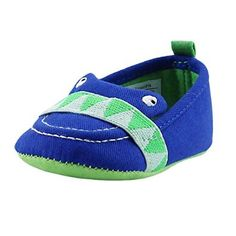 Designer Baby Loafers! Rosie Pope I See You Alligator Slip-On Loafer Boat Shoes (Infant Crib Shoes Baby Shoes Boy) Royal Blue: Shoes