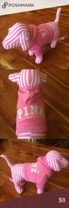 Pink Dog Victoria Secret Pink dog in pink hoodie. I'm selling my collection, bundle & save. PINK Victoria's Secret Other