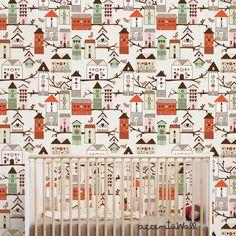 Birdhouse Orange Peel & Stick Fabric Wallpaper by AccentuWall, $40.00 Wallpaper Samples, Fabric Wallpaper, Cleaning Walls, Orange Peel, Traditional Wallpaper, Simple Shapes, Birdhouse, Designer Wallpaper, Textured Walls