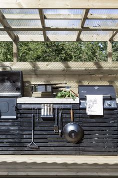 Fire Pit Bbq, Outdoor Pergola, Summer Kitchen, Spotlights, Exterior Design, Outdoor Living, Bauhaus, Relax, Patio