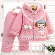 Дети зима хлопок мягкий куртка бархат утолщение хлопок мягкий куртка костюм тёплый младенцы одежда купить на AliExpress