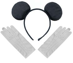 Black Mickey Mouse Disney Fancy Dress Ears Headband + Gloves Set - C812O0JC4AL - Hats & Caps, Women's Hats & Caps, Headbands  #cheapcapssmall #caps #hats #outfit #Headbands