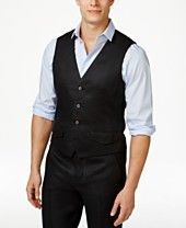Tasso Elba Men's Island Linen Vest, Only at Macy's
