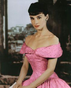 Audrey Hepburn ~ Pretty in Pink.