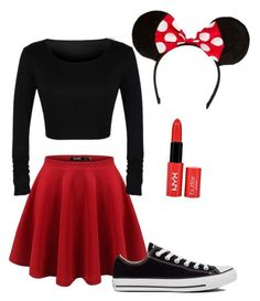 """""""Minnie Mouse costume!"""" by livvie47 on Polyvore featuring Converse"""