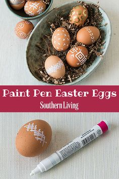 Paint Pen Easter Eggs | One of our easiest crafts ever – all you need is some eggs, a paint pen, and a few favorite patterns (well, and maybe a steady hand).