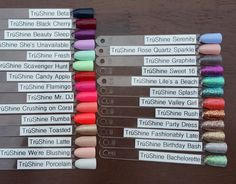 Jamberry Lacquer and Gel Sample Sticks