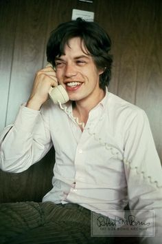 MICK JAGGER Rolling Stones 1965 Candid On The Phone LIMITED EDITION Photograph
