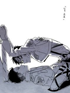 なあ、兵長。。。^^^I can see this happening for real....including Levi's just annoyed look and Eren's annoying smirk/grin