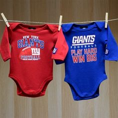 NY Giants Infant 2-Pack LS Bodysuits. LittleSportFan.com · NFL Baby  Football Clothes ... b4078f9ba