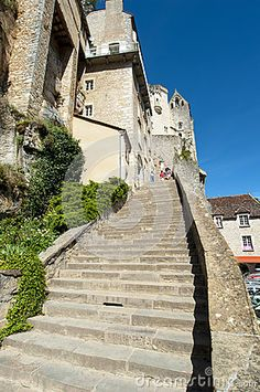 Image of historic - 38659807 Rocamadour France, Editorial Photography, Climbing, Paths, Vectors, Trail, Sign, Stock Photos, Mansions