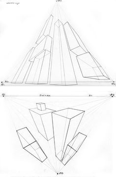 3 point perspective exercise by beamer on DeviantArt 3 Point Perspective, Perspective Drawing Lessons, 3d Illusion Drawing, Background Drawing, Art Worksheets, Learn Art, Landscape Drawings, Art Lessons Elementary, Technical Drawing