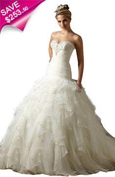 Full and fabulous #wedding dresses