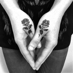 Hand rose tattoos by adamvunoir.   These tattoos for women will bring out the beauty within, they are the depiction of dreams, they are there to compliment your skin, not take over. Enjoy!