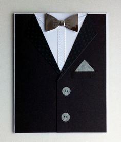 Card for men - MFT suit and tie die - kort til mænd jakke og sølv butterfly nytår - Karte für Männer #mftstamps - new year suit with silver bowtie