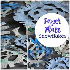 This simple paper plate snowflakes craft for kids is perfect for cold winter days. Let kids enjoy this fun winter art thatu0027s great for playgroups or at home & Paper Plate Snowflakes | Winter art Winter and Craft