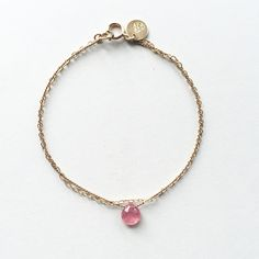 Pink Sapphire Bracelet - Wanderlust Life Jewellery  Understated & minimal semi precious gemstone jewellery, handmade in the UK inspired by the world.  www.wanderlustlife.co.uk