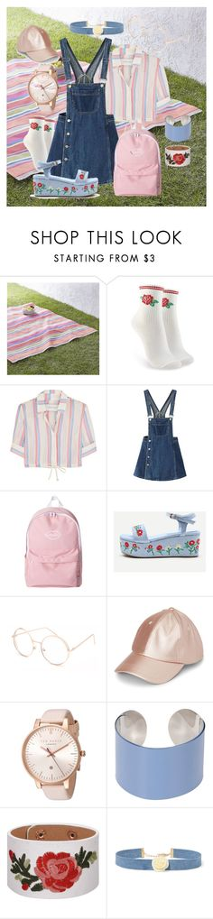 """Picnic"" by vvannaone ❤ liked on Polyvore featuring Crate and Barrel, Forever 21, Solid & Striped, WithChic, Full Tilt, Ted Baker, Maison Margiela and Kenneth Jay Lane"