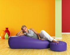 Kolorowa #pufa pasuje do każdego wnętrza, bez wątpienia!