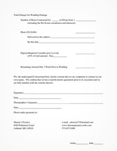 Newborn Photography Contract  Forms Bundle Templates  Photoshop
