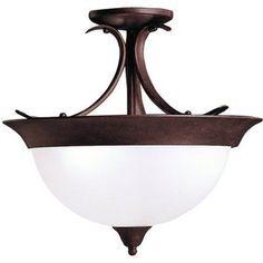 KK3623TZ Dover Semi Flush Mount Ceiling Light - Tannery Bronze