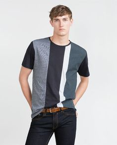 New Collection Online Printed Shirts, Tee Shirts, Zara, Casual T Shirts, Striped Tee, Kids Wear, Looking For Women, Shirt Designs, Street Wear