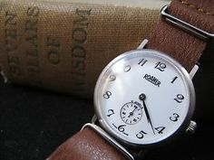 NEW DC VINTAGE WATCHES AUCTION: Vintage 1950's Roamer Manual Watch, w/Stitched Leather NATO Strap---  DC Vintage Watches is pleased to offer for bidding this beautiful pre-loved vintage 1950's Roamer manual watch, presented on a stitched brown leather NATO strap. We timed this Roamer with the Twixt app and found it lost a 22.1 seconds in a 24 hour time period, within tolerance for a watch of this vintage.