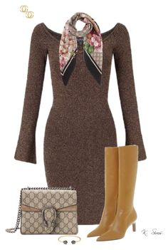 """Boots"" by ksims-1 ❤ liked on Polyvore featuring Miss Selfridge and Gucci"