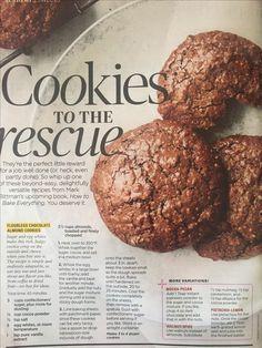Flourless Chocolate Almond Cookies redbook mag September 2016