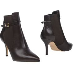 Michael Michael Kors Ankle Boots (10.825 RUB) ❤ liked on Polyvore featuring shoes, boots, ankle booties, cocoa, stiletto boots, ankle boots, leather bootie, chelsea boots and bootie boots