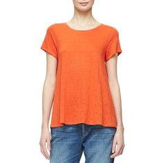 3c0ad251fb2 Short-Sleeve Organic Linen Jersey Tee