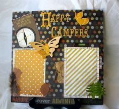 CAMPING Pre-made 12x12 SCRAPBOOK PAGE Layout