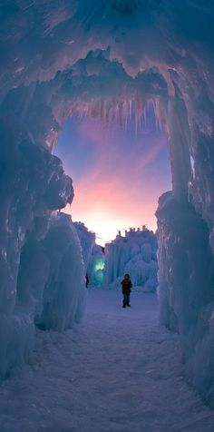 Ice Castles in Silverthorn, Colorado - USA