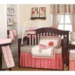 Nebraska Furniture Mart – Cocalo Inc 4-Piece Alma Crib Bedding Set in Pink