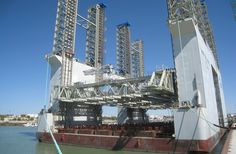 This image shows the gantry slipform system being used for construction of Caissons in Spain. Gantry slipform system  is a very effective system for construction of structures such as Caissons.  #Caissons #Construction #Spain