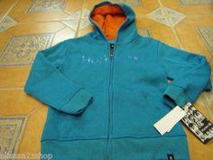 Boys kid youth surf 2T Hurley hoodie jacket coat sweat shirt Atlantic Cyan heat