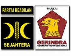 Partai Keadilan Sejahtera (kiri) - Partai Gerindra (kanan)
