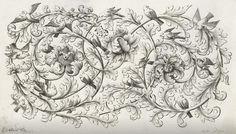 Bladrank met drie bloemen en vogels, Johannes Jacobsz Folkema, c. 1690 - c. 1700_ https://www.rijksmuseum.nl/en/collection/RP-P-OB-6295