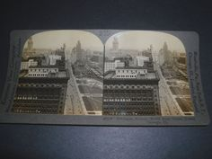 Stereoview MICHIGAN AVE N FROM STRAUS TOWER CHICAGO ILLINOIS       29134