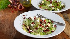 CUCUMBER SALAD - Cleanse your palate with this light and lively cucumber salad. The cucumber is drizzled with a fresh, tangy dressing made from Knorr Vegetable Stock Pot, creamy feta cheese and pomegranate seeds. A perfect summer salad and a great picnic treat.