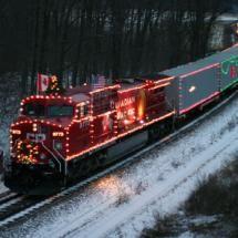 canadian christmas train