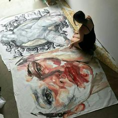 Dream to do this! Work of art so huge that you've got this💥 Painting Inspiration, Art Inspo, Art Sketches, Art Drawings, Arte Sketchbook, Art Anime, A Level Art, Wow Art, Art Hoe