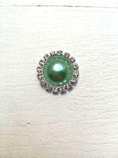 New to LaBellaRoseBoutique on Etsy  Mint pearl Button rhinestone button  Flatback Button Wholesale Button Embellishment 91dc19a7bc1e