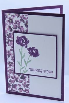 hello again,  Today I have a couple of card using the new set Painted Petals. I love the way you can make up flowers however you want using...