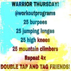 """""""Let's make it happen! I'm sure a lot of you sit there and say in your head, """"easy workout"""" give it a shot  Double tap and tag a friend to accept this…"""""""