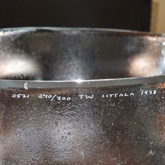 Limited Edition Bowl Signed and Numbered '0571 240/300 TW IITTALA 1978'  Finland